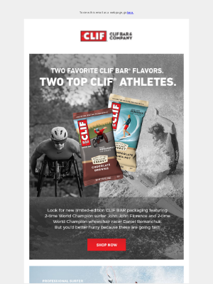 Clif Bar & Co. - New Limited-Edition CLIF BAR® Packaging Featuring CLIF Athletes.