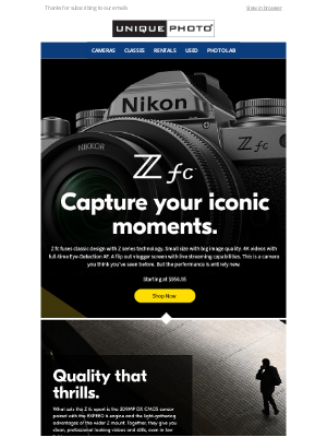 Unique Photo - Introducing the All-new Nikon Z fc Mirrorless Camera