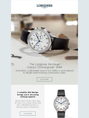 Longines Watch Co. - Introducing the Longines Heritage Classic Chronograph 1946