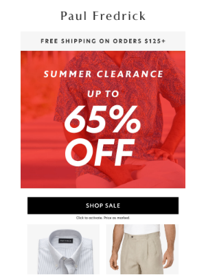 Paul Fredrick - Summer Clearance: All Summer styles up to 65% off.