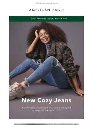 Stay warm in new Cozy Jeans!