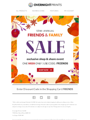 Overnight Prints - Drop Everything: Your Friends & Family Sale Starts Now!