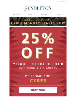 Pendleton Woolen Mills - Your exclusive promo code