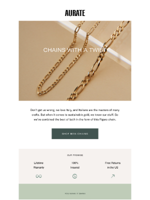NEW IN: FIGARO CHAINS