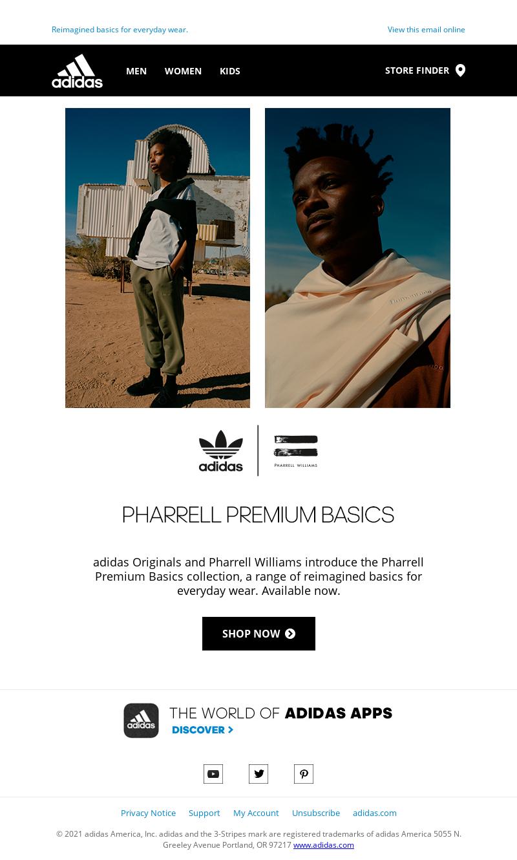 Adidas USA - Available now: Pharrell Premium Basics