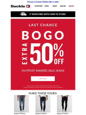 Have you shopped our BOGO 50% off sale?