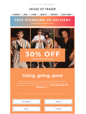 up to 30% off last chance buys