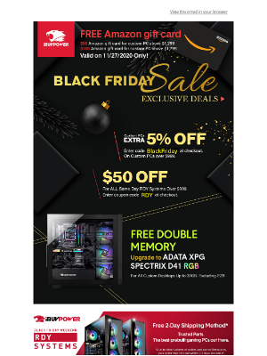 iBUYPOWER - Black Friday Gaming PC Deals Exclusively for You!