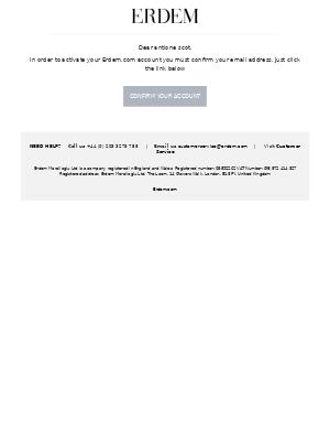 Please confirm your ERDEM account