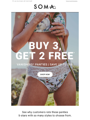 Soma Intimates - Want free panties? Check this out👀