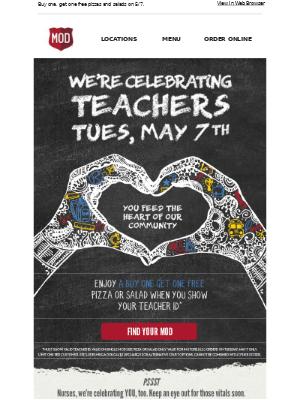 Teachers, we're celebrating all you do