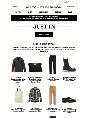 Matches Fashion (UK) - Just In: modern updates by Loewe, Maison Margiela and Bottega Veneta