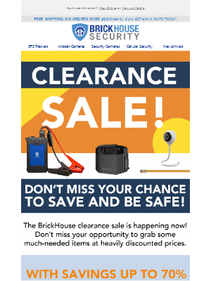 BrickHouse Security - Up to 70% Savings on Selected Items!