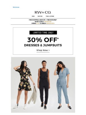 RW&CO. CA - This week's forecast: DRESSES!