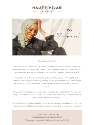 Haute Hijab - From the bottom of our hearts, THANK YOU!