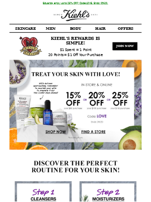 Kiehl's (CA) - Refresh Your Routine & Save Up To 25% OFF!