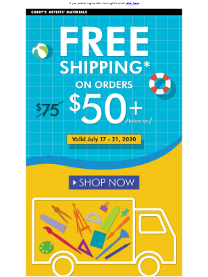 It's Back! Free Shipping with Lower Minimum!