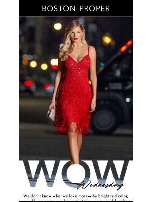 Boston Proper - This Red Fringe Dress, Though.