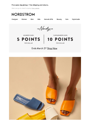 Nordstrom - Flat sandals in your size + new sneakers