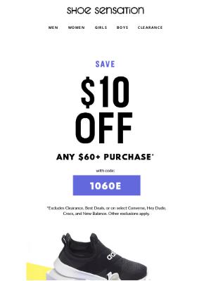 Shoe Sensation Inc - Save $10 OFF New Athletic Arrivals!