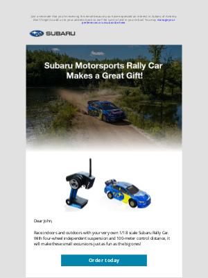 Subaru of America - Check out the SMSUSA Rally Car!