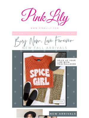 Buy Now, Love Forever + Show Us Your #PINKLILYSTYLE