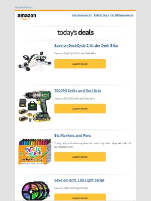 Amazon - Save on DeskCycle 2 Under Desk Bike