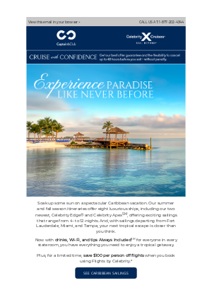 Celebrity Cruises - Stephen, enjoy a relaxing and effortless getaway like no other.