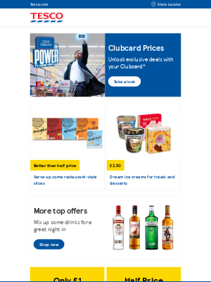 Tesco (UK) - This week's grocery offers and exclusive Clubcard Prices