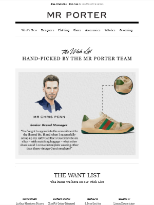 MR PORTER - Why our Senior Brand Manager is so committed to vintage Gucci sneakers