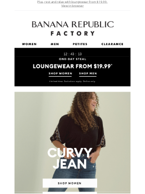 Banana Republic Factory - Experience our best-selling Curvy Jean (no waist gap!)