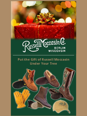 Russell Moccasin Co. - Free Shipping on Our Entire Website!