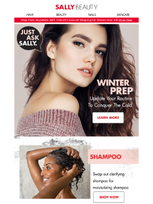 Sally Beauty - Prep Your Hair, Skin & Nails For Colder Months
