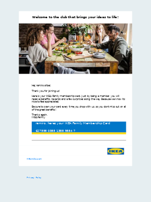 Welcome to IKEA Family