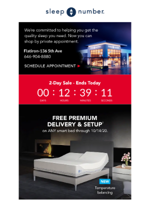Sleep Number - Today's the LAST DAY of our 2-Day Sale