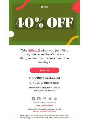 🔑 You've unlocked 40% off!