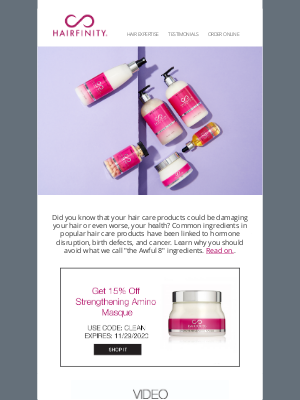Hairfinity - Is Your Haircare Toxic?