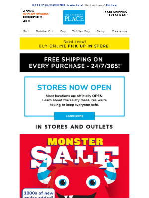 ⚡75% off MONSTER Clearance Savings in Stores NOW!
