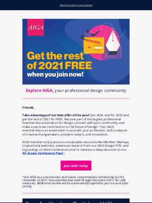 AIGA - Now Is The Time–Join AIGA