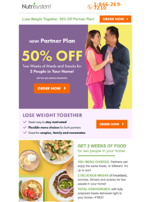 Lose Weight Together: 50% OFF Partner Plan!
