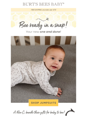 Burt's Bees Baby - *New!* Easy dressing at it's best!
