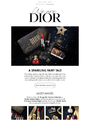 Dior - Premiering the Holiday 2020 Makeup Collection