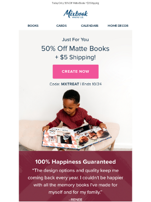 Just for today: 50% Off Matte Books!