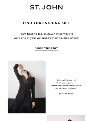 St. John Knits - Three Suits, Endless Options