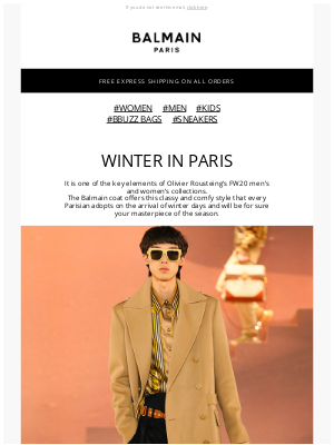 Balmain Paris - FW20 COLLECTION : WINTER IN PARIS