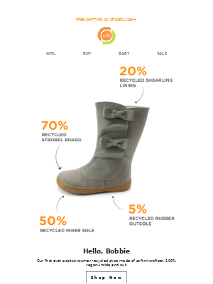 Livie & Luca - Our first sustainable boot