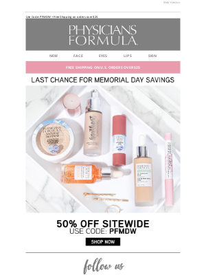 Physicians Formula - Hurry! 50% Off Sitewide Ends Soon!
