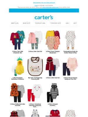 Carter's - Just for your forecast!