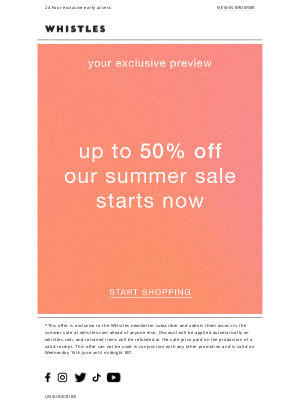 Whistles (UK) - Your summer SALE preview starts now