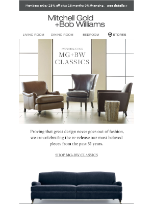 Mitchell Gold + Bob Williams - Introducing: MG+BW Classics Collection